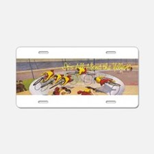 Cycling Yellow Jersey Aluminum License Plate