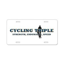 TOP Cycling Slogan Aluminum License Plate