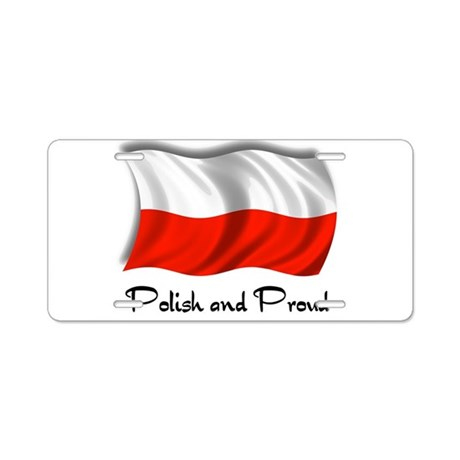 Polish and Proud Aluminum License Plate