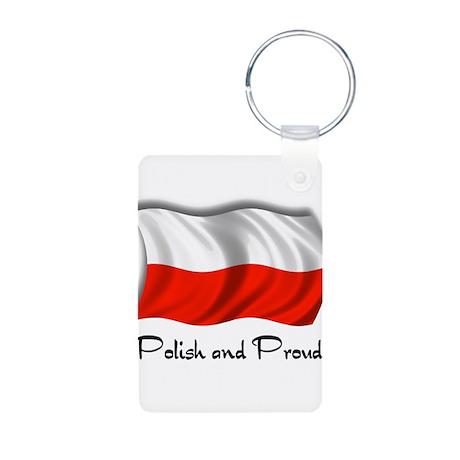 Polish and Proud Aluminum Photo Keychain
