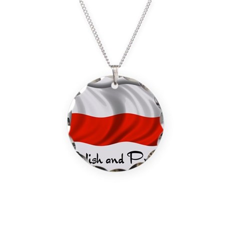Polish and Proud Necklace Circle Charm