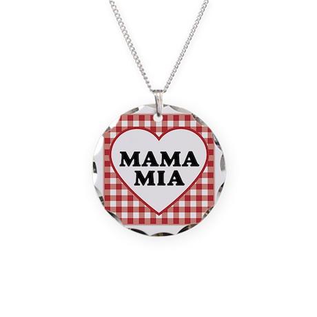 Mama Mia Necklace Circle Charm
