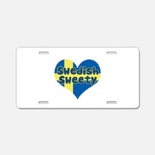 Swedish Sweety Aluminum License Plate