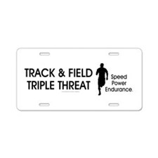 TOP Track and Field Aluminum License Plate