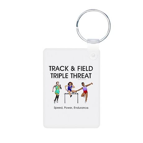 Women's Track and Field Slogan Aluminum Photo Keyc