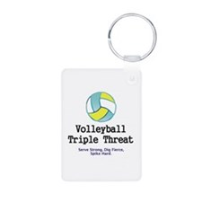 TOP Volleyball Slogan Keychains