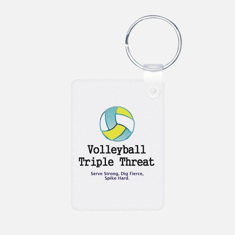 Volleyball Slogan Keychains
