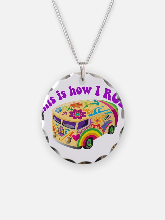 How I Roll Hippie Van Necklace
