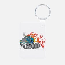 Hot Rod (Flames) 18 Wheeler T Keychains