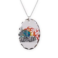 Hot Rod (Flames) 18 Wheeler T Necklace