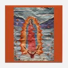 Our Lady of Guadalupe (Papyrus Ver.) Tile Coaster