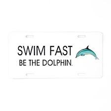 TOP Swim Slogan Aluminum License Plate