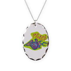 Retro Peace Dove Necklace