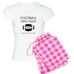 TOP Football Slogan Women's Light Pajamas