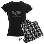 TOP Football Slogan Women's Dark Pajamas