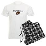 TOP Football Slogan Men's Light Pajamas