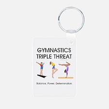 TOP Gymnastics Slogan Keychains