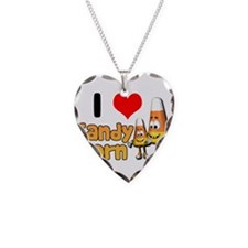 I Heart (Love) Candy Corn Necklace
