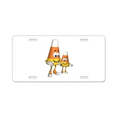 Candy Corn Aluminum License Plate