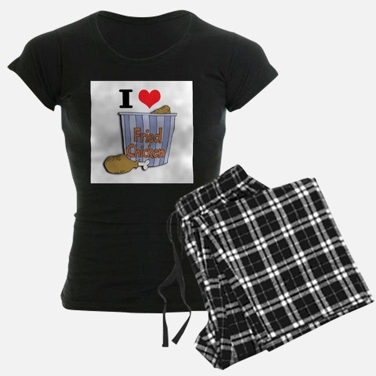 I Heart (Love) Fried Chicken Pajamas