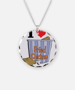 I Heart (Love) Fried Chicken Necklace