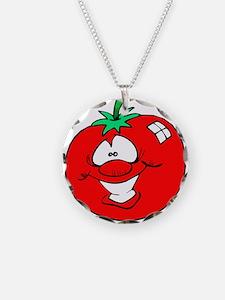 Happy Tomato Face Necklace
