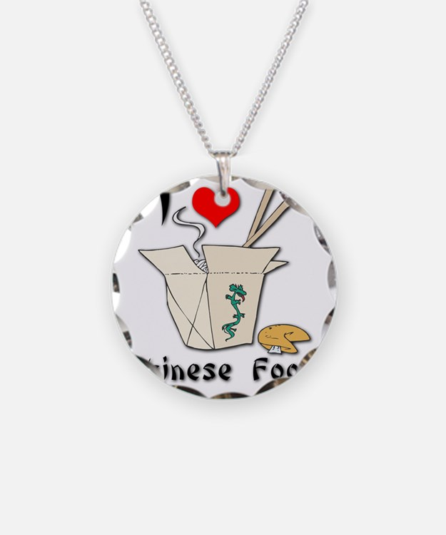 I Heart (Love) Chinese Food Necklace