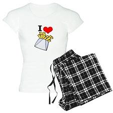 I Heart (love) French Fries Pajamas