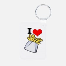 I Heart (love) French Fries Keychains