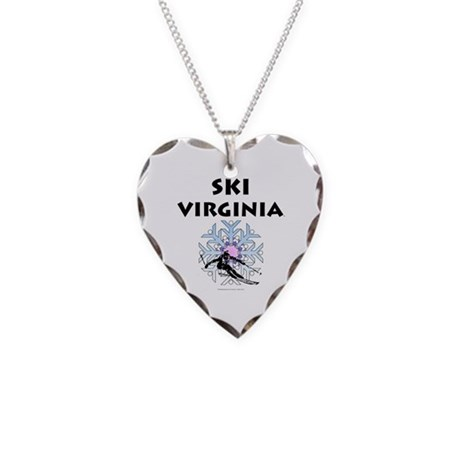 TOP Ski Virginia Necklace Heart Charm