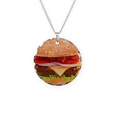 yummy cheeseburger photo Necklace