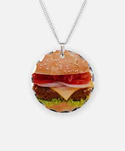 yummy cheeseburger photo Necklace