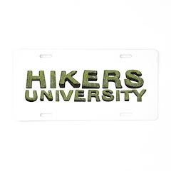 Hikers University Aluminum License Plate