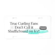 TOP Curling Slogan Aluminum License Plate