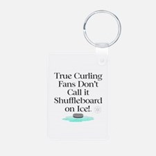 Curling Slogan Keychains