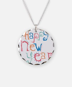 Pastel Happy New Year Necklace