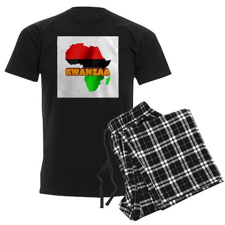Kwanzaa Africa Men's Dark Pajamas