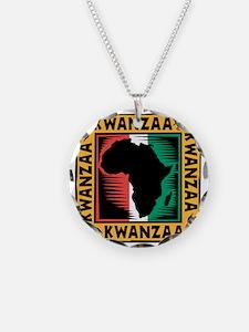 Kwanzaa Africa Map Design Necklace
