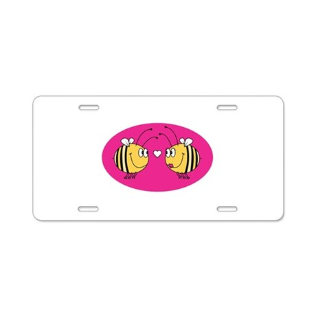 Cute Little Love Bees Aluminum License Plate