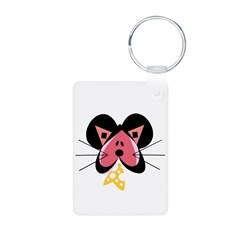Valentine Mouse with Cheese Keychains