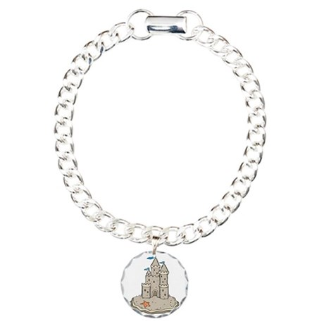 Sand Castle Charm Bracelet, One Charm