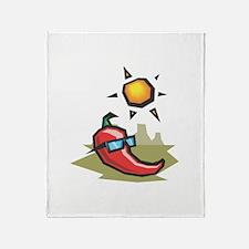 Chillin' Chili Pepper Throw Blanket