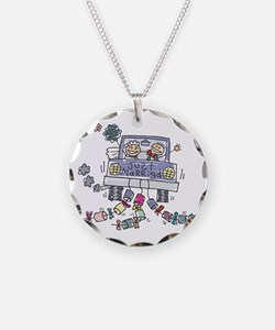 Just Married Car Necklace