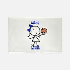Basketball: Ashley Rectangle Magnet