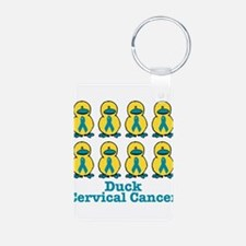 Ducks for a Cause Cervical Ca Keychains