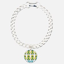 Ducks for a Cause Ovarian Can Charm Bracelet, One