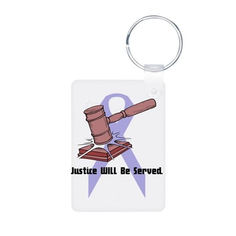 Domestic Violence Justice Aluminum Photo Keychain