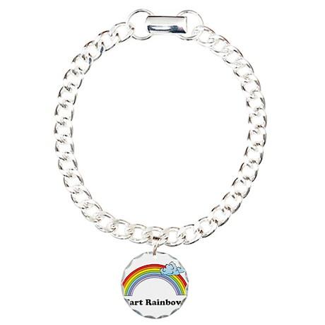 I Fart Rainbows. Charm Bracelet, One Charm