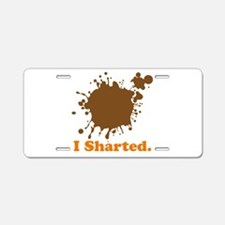 I Sharted (Poop Stain) Aluminum License Plate