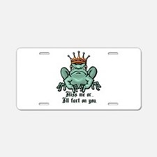 Kiss Me or I'll Fart Frog Aluminum License Plate